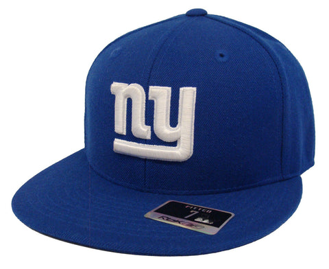 New York Giants Fitted Reebok Logo Cap Hat Blue Size 7