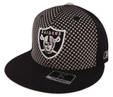 Oakland Raiders Fitted Reebok Dots Black Cap Hat
