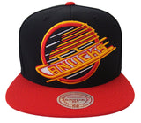 Vancouver Canucks Snapback Mitchell & Ness XL Logo Black Red
