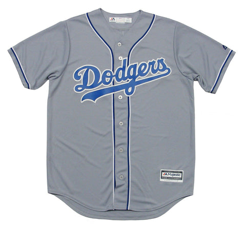 Los Angeles Dodgers Mens Jersey Majestic Cool Base Custom Alternate Grey