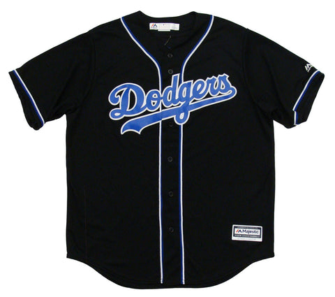 Los Angeles Dodgers Mens Jersey Majestic Custom Alternate Jersey Black