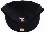 Chicago Bulls Fitted New Era 59Fifty Black Red Cap Hat Size 7 1/8