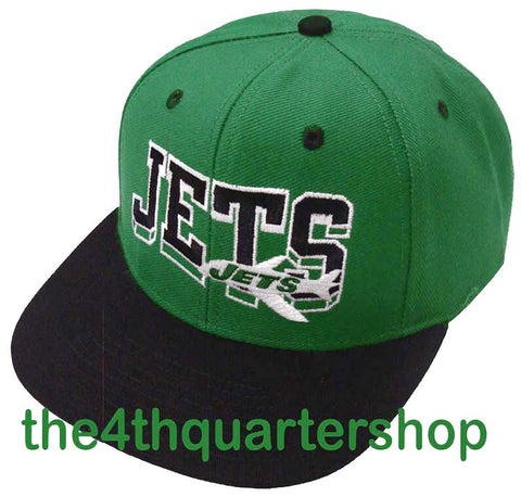 New York Jets Snapback Retro SL Cap Hat 2 Tone Green Black
