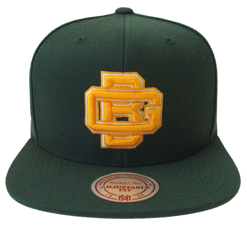 pretty nice 86186 af6d3 Green Bay Packers Snapback GB Logo Mitchell & Ness Cap Green