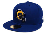 Los Angeles Rams Fitted New Era 59Fifty Helmet Logo Blue Cap Hat
