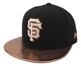 San Francisco Giants Fitted New Era 59FIFTY Metallic Slither Black Gold Cap Hat
