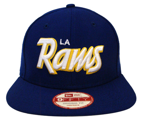 Los Angeles Rams Snapback New Era Original Fit Script Blue Cap Hat
