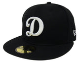 Los Angeles Dodgers Kids Fitted New Era 59FIFTY Youth Big D Logo Cap Hat Black