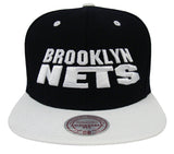 Brooklyn Nets Snapback Mitchell & Ness Monolith Cap Hat Black White