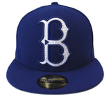 Brooklyn Dodgers Fitted New Era 59FIFTY Mighty Stitch Blue Cap Hat