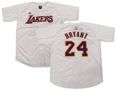 Los Angeles Lakers Mens Jersey Adidas #24 Kobe Bryant Baseball White