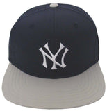 New York Yankees Snapback Snapback Cap Hat  2 Tone Navy Grey