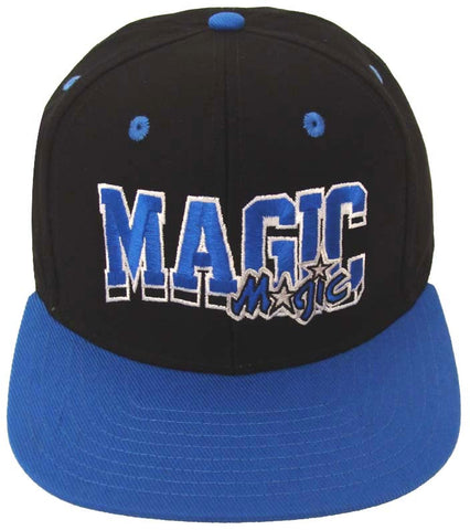 Orlando Magic Snapback Retro Script Cap Hat Black Blue