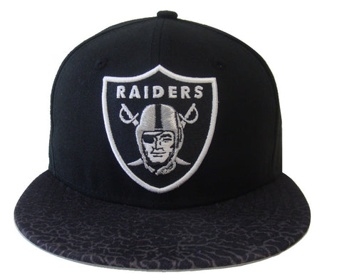 Oakland Raiders Fitted Crackle Vize New Era 59FIFTY Fitted Cap Hat Black 3f5afb535