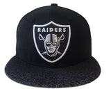 Oakland Raiders Fitted Crackle Vize New Era 59FIFTY Fitted Cap Hat Black