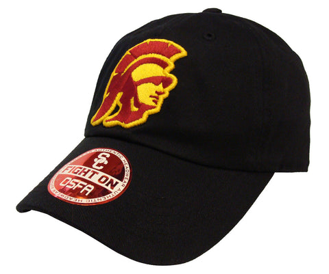 USC Trojans Strapback Trojan Logo Adjustable Cap Hat Black