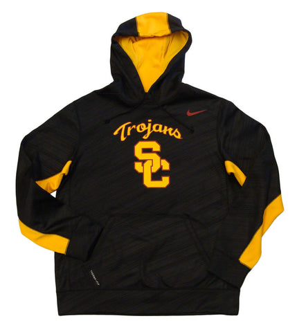 USC Trojans Mens Sweatshirt Pullover Champs KO Nike Hooded Black Medium