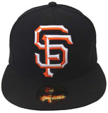 San Francisco Giants Fitted New Era 59FIFTY XL Logo Black Cap Hat