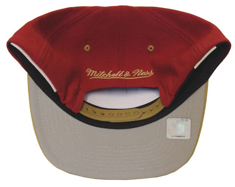 San Francisco 49ers Snapback Mitchell   Ness Logo Hat Red Gold – THE ... 9dc8244dc51d