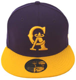 California Anaheim Angels Fitted New Era 59FIFTY Cap Hat Purple Yellow