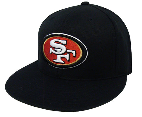 San Francisco 49ers Fitted Reebok Logo Cap Hat Black