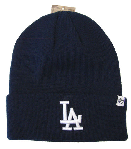 Los Angeles Dodgers Beanie Knit 47 Brand Fold All Navy