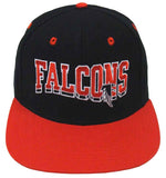 Atlanta Falcons Snapback SL Retro Cap Hat Black Red