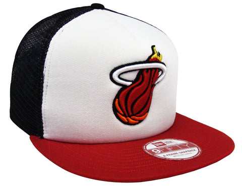 Miami Heat Snapback New Era Trucker Cap Hat Tri Color
