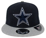 Dallas Cowboys Snapback New Era Heather Action Cap Hat Charcoal Grey