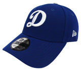 "Los Angeles Dodgers Adjustable New Era The League Velcro ""D"" Cap Hat Blue"