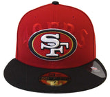 San Francisco 49ers Fitted New Era Team Tradition Cap Hat Red Black