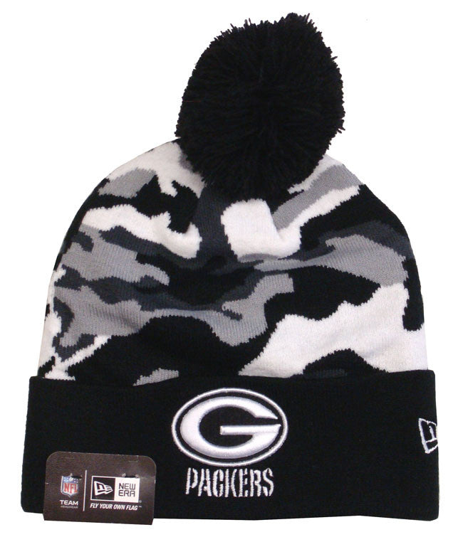 Green Bay Packers Beanie New Era Cam Black Top Knit Hat – THE 4TH ... 3494ad170