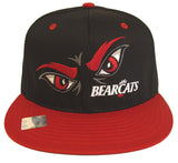 Cincinnati Bearcats Snapback Logo Retro Cap Hat 2 Tone Black Red
