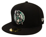 Boston Celtics Fitted New Era 59Fifty 3D Logo Black Cap Hat
