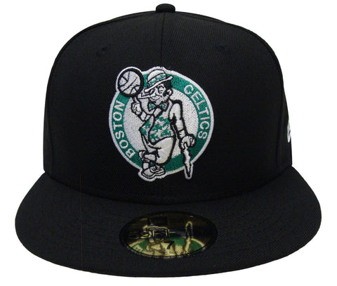 Boston Celtics Fitted New Era 59Fifty Basic Logo Black Cap Hat