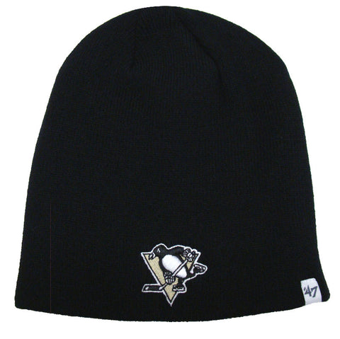 Pittsburgh Penguins Beanie 47 Brand Embroidered Skull Cap Black