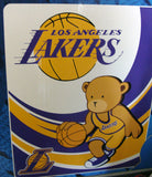 Los Angeles Lakers Kids Royal Plush Raschel Throw Blanket