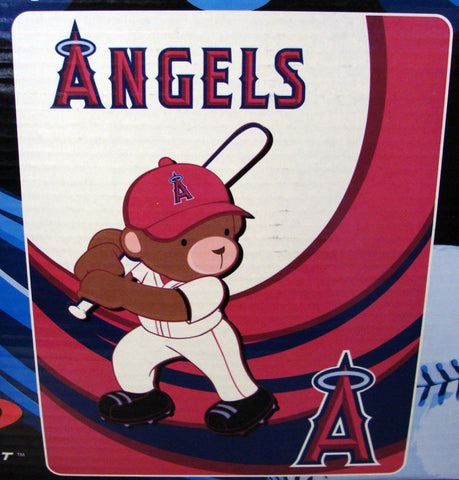 Anaheim Angels Kids Royal Plush Raschel Throw Blanket