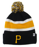 Pittsburgh Pirates Embroidered 47 Breakaway Pom Beanie Ski Cap Black