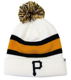 Pittsburgh Pirates Embroidered 47 Breakaway Pom Beanie Ski Cap White