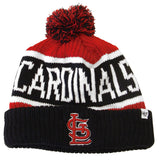 St. Louis Cardinals Beanie Embroidered 47 Calgary Pom Ski Cap