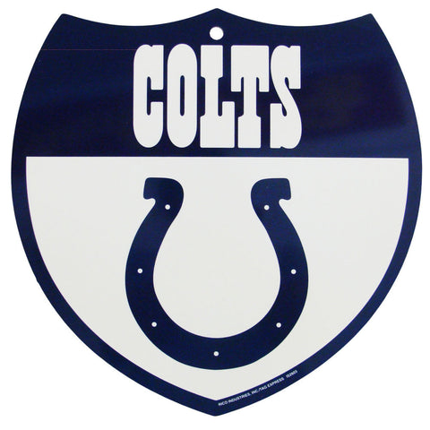 Indianapolis Colts Bar Home Decor Plastic Stop Sign