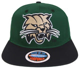 Ohio Bobcats Eclipse Logo Snapback Green Black Cap Hat