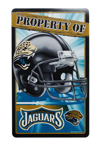 Jacksonville Jaguars Bar and Home Decor Property of Sign