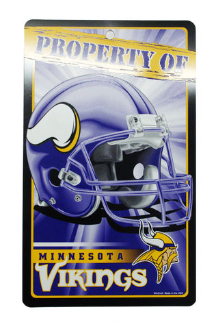 Minnesota Vikings Bar and Home Decor Property of Sign