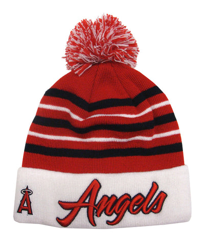 Anaheim Angels New Era Cuff Snow Stripe Embroidered Beanie Fold Cap