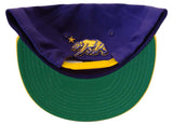 California Republic Whang Tri Bear Retro Snapback Cap Hat Purple Yellow