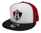 Club Atlas de Guadalajara Snapback New Era 9Fifty Cap Hat Tri White Black Red