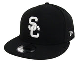 USC Trojans Snapback New Era 9Fifty White Logo Trojan on Back Cap Hat Black