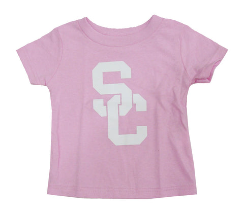 USC Trojans Infant T-Shirt Interlock Pink